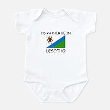 I'd rather be in Lesotho Infant Bodysuit
