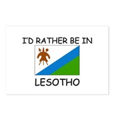 I'd rather be in Lesotho Postcards (Package of 8)