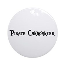 Pirate Cannonneer Ornament (Round)