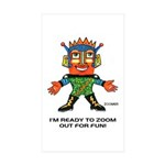 ZOOMER! Let's Play! Rectangle Sticker 10 pk)