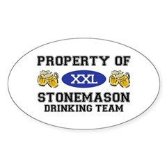 Property of Stonemason Drinking Team Decal