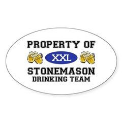 Property of Stonemason Drinking Team Decal