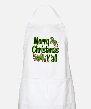 MERRY CHRISTMAS Y'ALL Apron