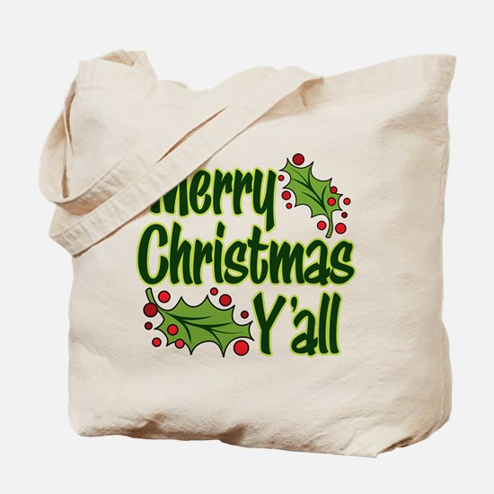 MERRY CHRISTMAS Y'ALL Tote Bag