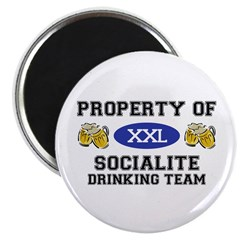 Property of Socialite Drinking Team Magnet