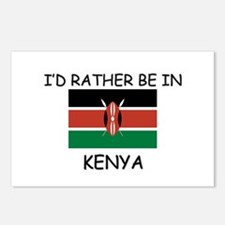 I'd rather be in Kenya Postcards (Package of 8)
