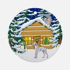 Old Fashioned Dalmatian Christmas Ornament (Round)