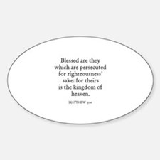 MATTHEW 5:10 Oval Decal