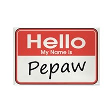 Hello, My name is Pepaw Rectangle Magnet (10 pack)