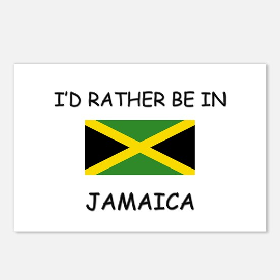 I'd rather be in Jamaica Postcards (Package of 8)
