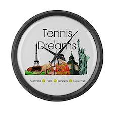 TOP Tennis Dreams Large Wall Clock