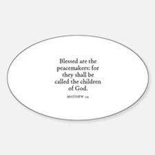 MATTHEW 5:9 Oval Decal