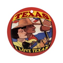 J'aime Texas Ornament (Round)