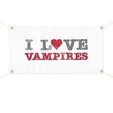 I Love Heart Vampires Twilight Banner