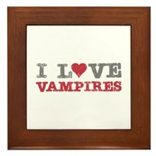 I Love Heart Vampires Twilight Framed Tile
