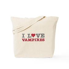 I Love Heart Vampires Twilight Tote Bag