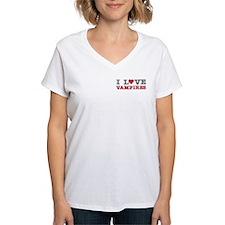 I Love Heart Vampires Twilight Shirt