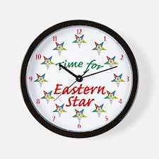 Eastern Star Wall Clock