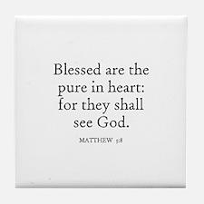 MATTHEW  5:8 Tile Coaster