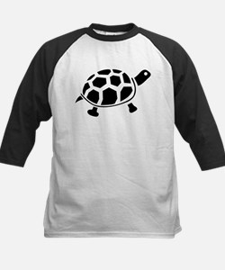 Black and white Turtle Kids Baseball Jersey