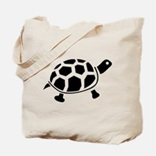 Black and white Turtle Tote Bag