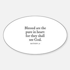 MATTHEW 5:8 Oval Decal