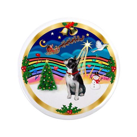"XmasMusic 3/Boston Terrier 3.5"" Button"