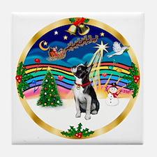 XmasMusic 3/Boston Terrier Tile Coaster