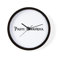 Pirate Commander Wall Clock