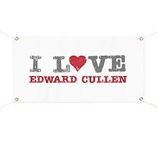 I Love Heart Edward Cullen Twilight Banner