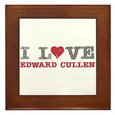 I Love Heart Edward Cullen Twilight Framed Tile