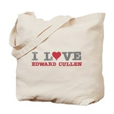 I Love Heart Edward Cullen Twilight Tote Bag