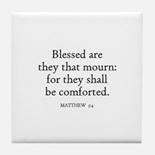MATTHEW  5:4 Tile Coaster