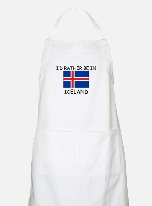 I'd rather be in Iceland BBQ Apron