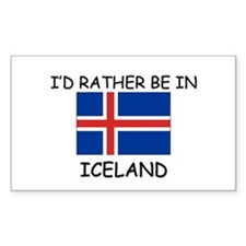 I'd rather be in Iceland Rectangle Decal