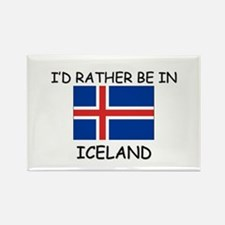 I'd rather be in Iceland Rectangle Magnet (10 pack