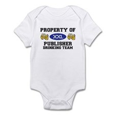 Property of Publisher Drinking Team Infant Bodysui