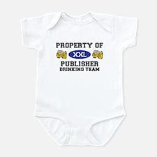 Property of Publisher Drinking Team Infant Bodysui