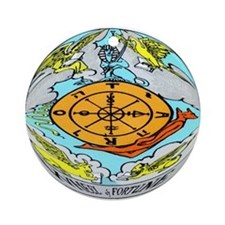 """""""The Wheel Of Fortune Tarot Card"""" Ornament (Round)"""