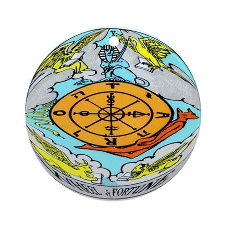 """The Wheel Of Fortune Tarot Card"" Ornament (Round)"