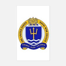 US Naval War College Rectangle Decal