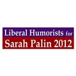 Liberal Humorists for Sarah Palin bumper sticker