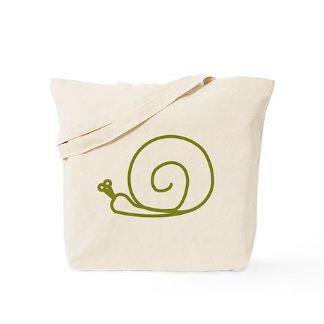 Green Snail Tote Bag