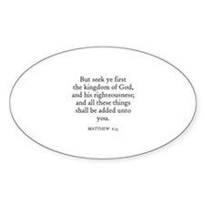 MATTHEW 6:33 Oval Decal