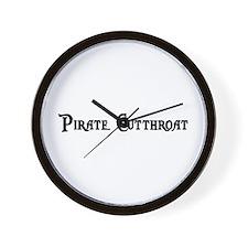 Pirate Cutthroat Wall Clock