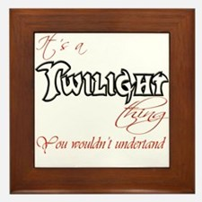 It's a twilight thing Framed Tile