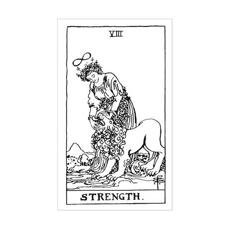Strength Tarot Card Rectangle Sticker