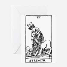 Strength Tarot Card Greeting Card