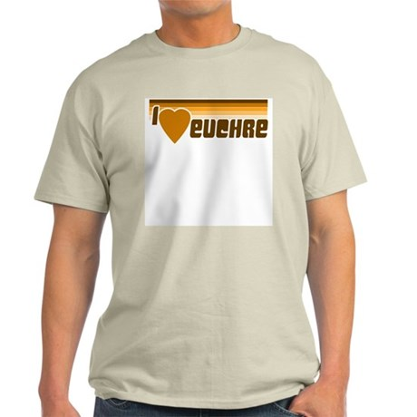 I Love (Heart) Euchre Ash Grey T-Shirt