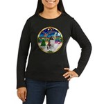 XmasMusic 3/ St Bernard #1 Women's Long Sleeve Dar